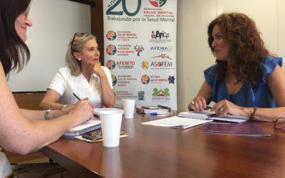La diputada de Podemos María Ángeles García visita la Federación Salud Mental Región de Murcia