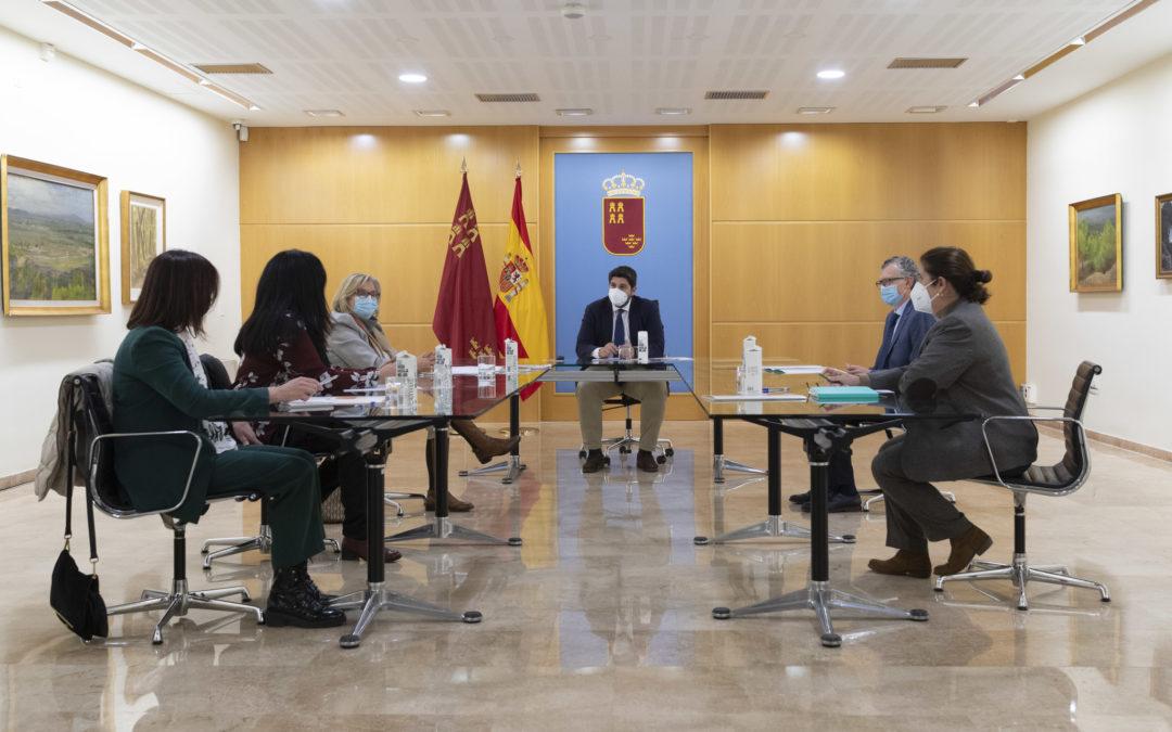 La Federación expone al presidente López Miras su preocupación por las consecuencias de la pandemia en la Salud Mental